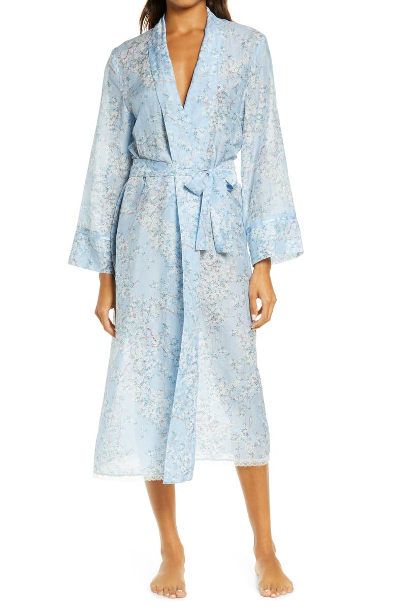 PAPINELLE Cherry Blossom Maxi Robe, Main, color, Blue