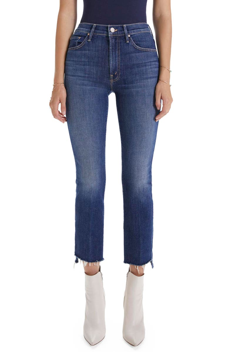 MOTHER 'The Insider' Crop Step Fray Jeans, Main, color, GIRL CRUSH