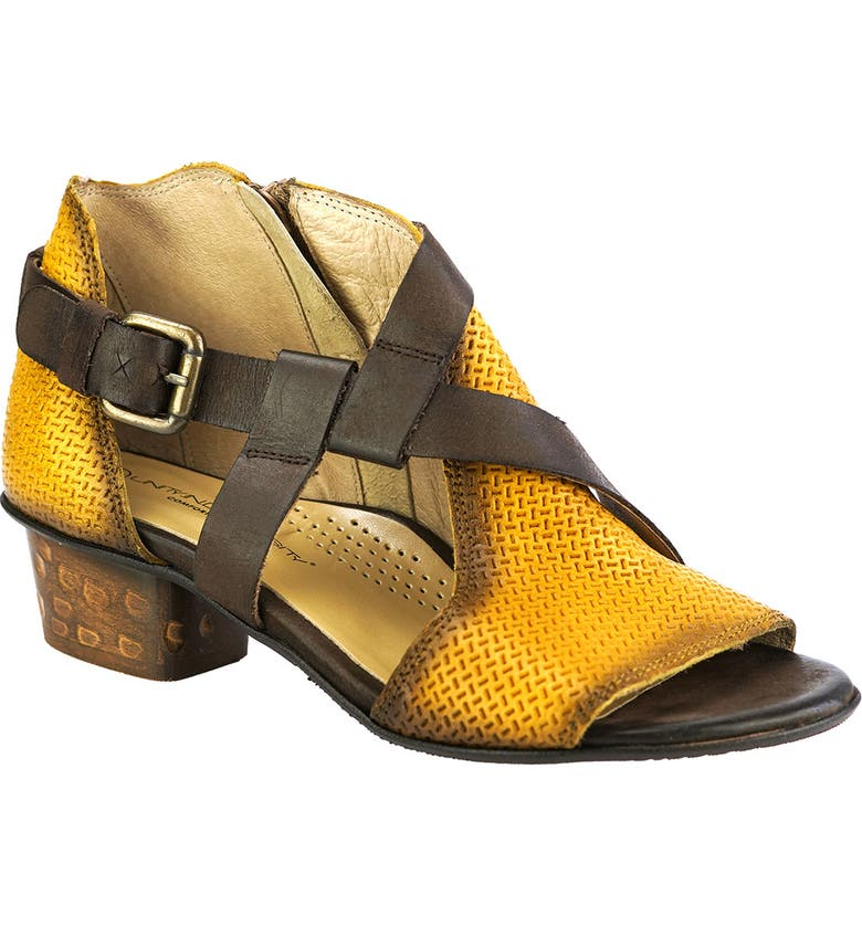 UNITY IN DIVERSITY Silene Sandal, Main, color, YELLOW/ BROWN LEATHER