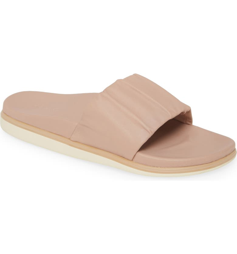 OLUKAI Pihapiha Slide Sandal, Main, color, ROSE DUST LEATHER