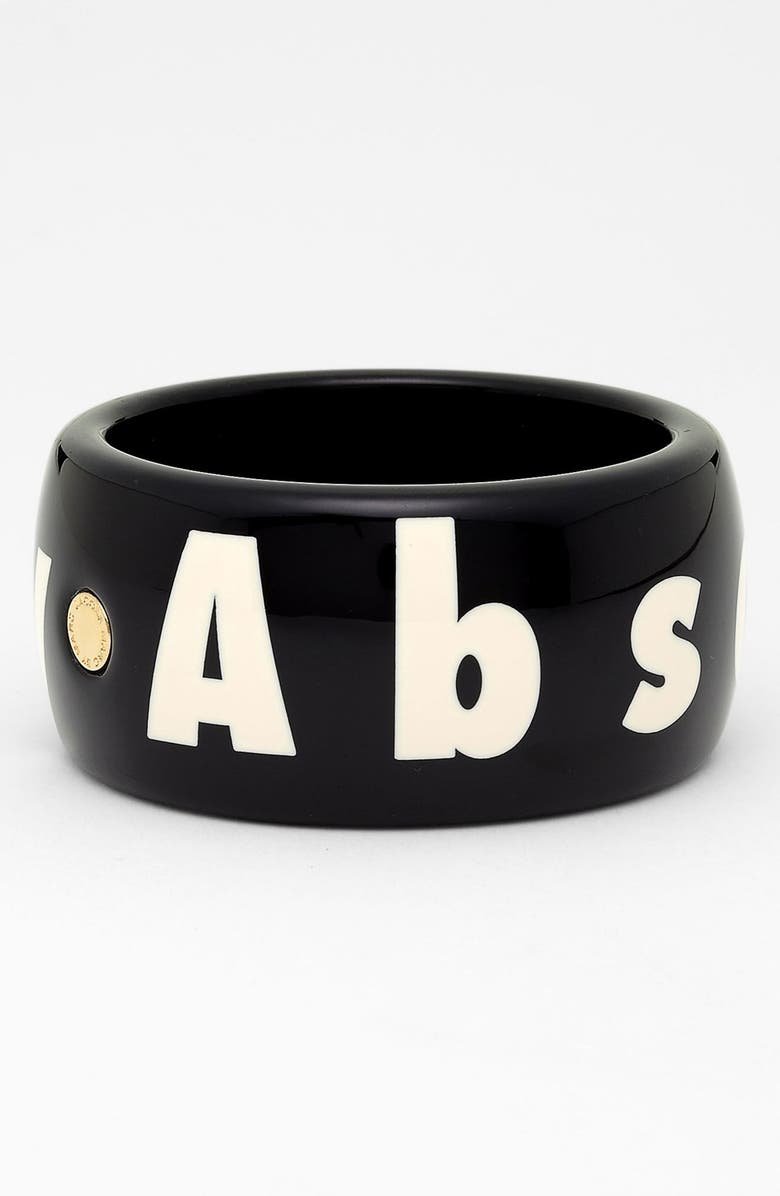 MARC BY MARC JACOBS 'Absolutely' Wide Print Bangle, Main, color, 001