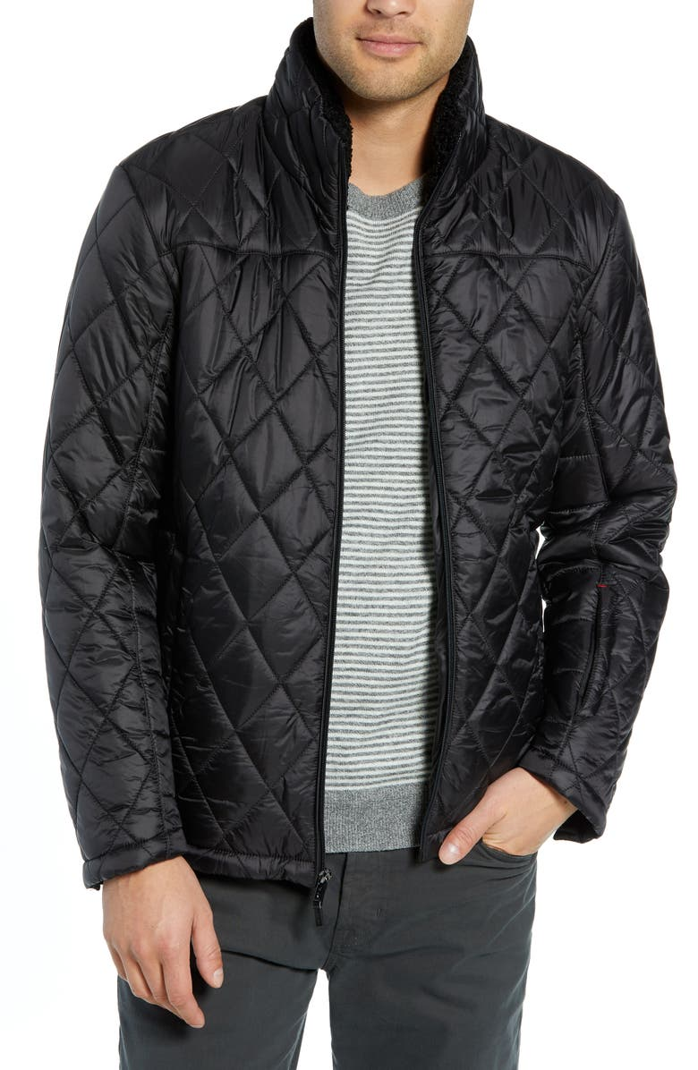 TUMI Transit Quilted Jacket, Main, color, 001