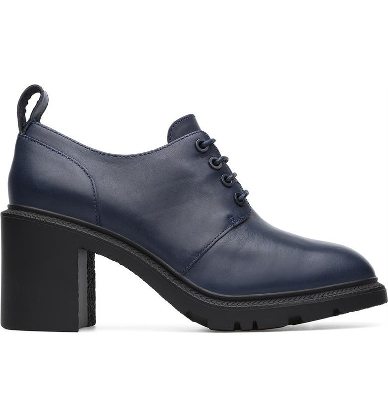 CAMPER Whitnee Leather Bootie, Main, color, NAVY