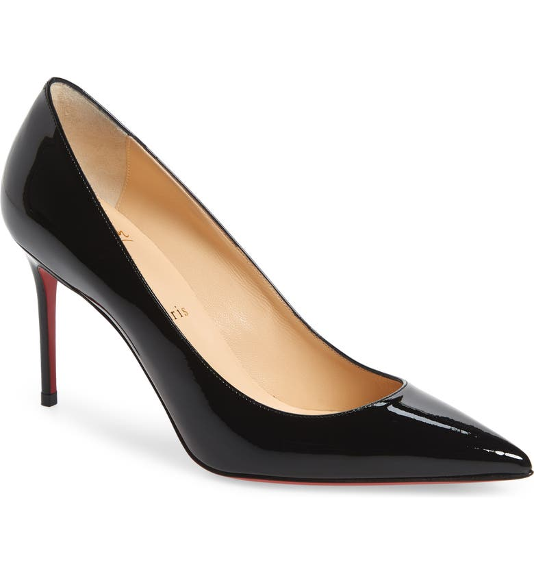 CHRISTIAN LOUBOUTIN Pointed Toe Pump, Main, color, BLACK PATENT