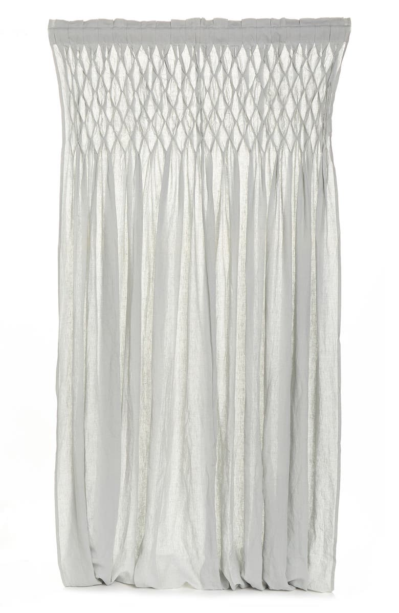 POM POM AT HOME Smocked Curtain Panel - Single Panel, Main, color, OCEAN