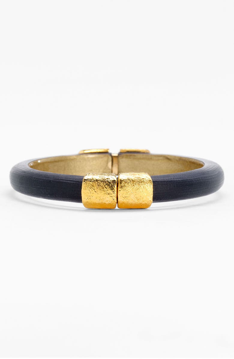 ALEXIS BITTAR 'Lucite<sup>®</sup>' Small Hinged Bracelet, Main, color, BLACK