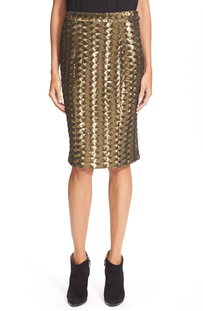 HUNTER BELL 'Brody' Sequin Pencil Skirt, Main, color, 220