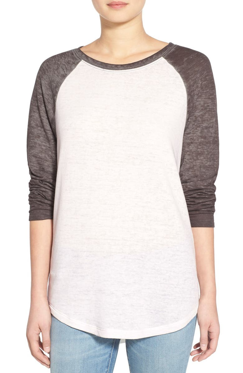TREASURE & BOND Treasure&Bond Burnout Baseball Tee, Main, color, 020