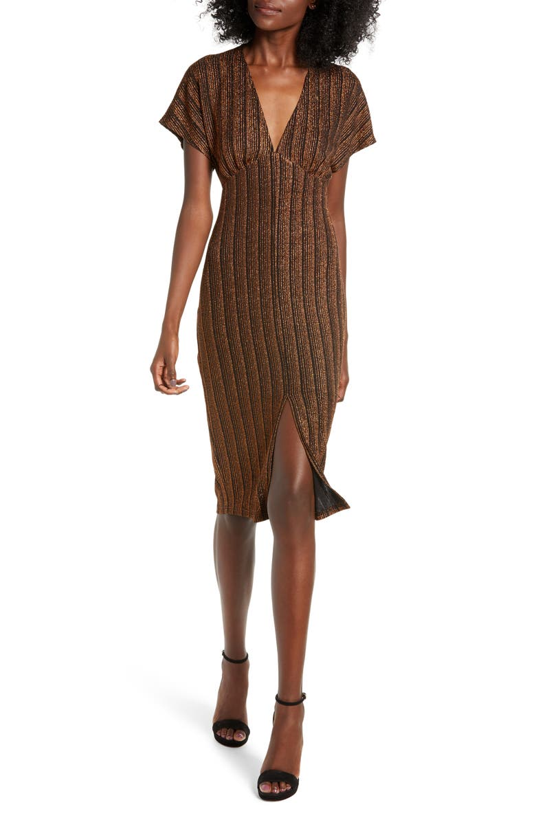 ALL IN FAVOR Sparkle Rib Knit Dress, Main, color, 200
