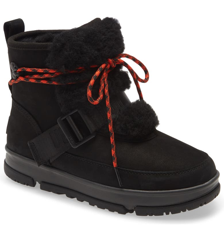 UGG<SUP>®</SUP> Classic Weather Waterproof Hiker Boot, Main, color, BLACK LEATHER