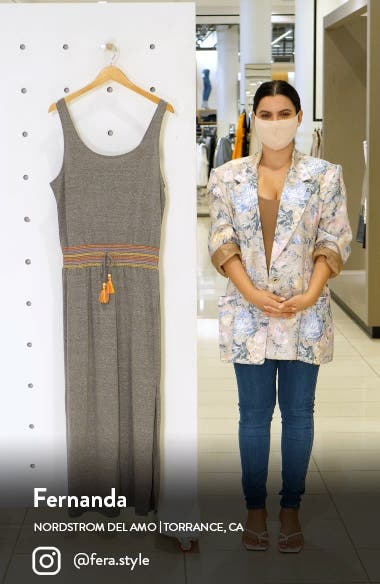 Sunset Smocked Scoop Neck Cover-Up Dress, sales video thumbnail