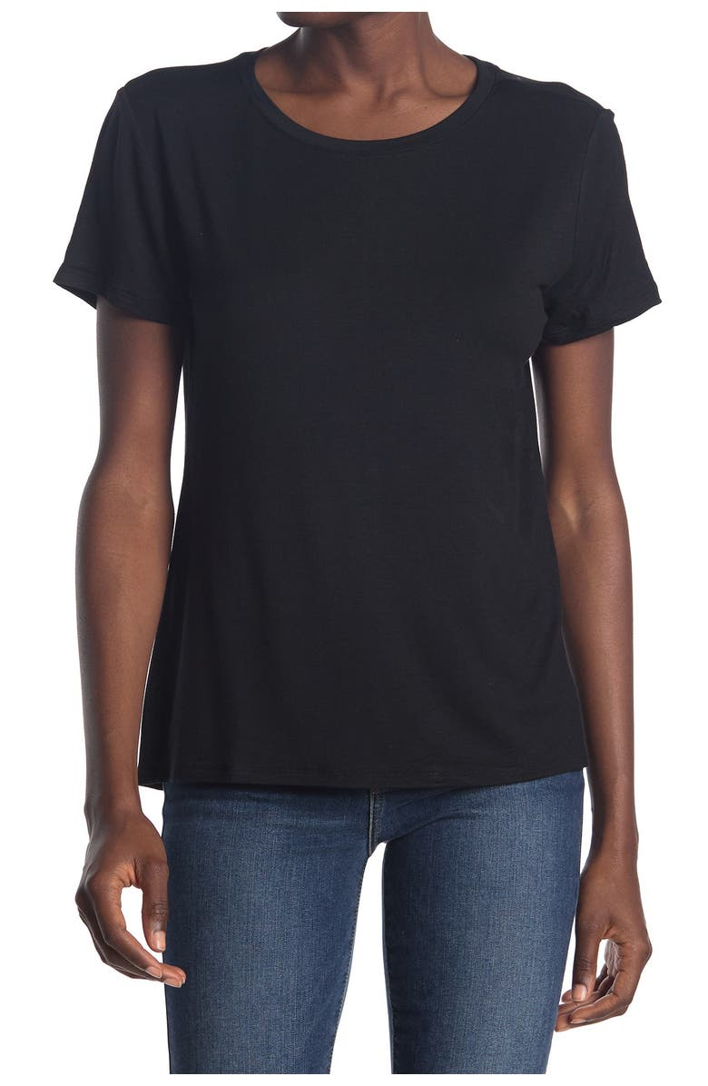 14TH AND UNION Crew Neck Short Sleeve T-Shirt, Main, color, BLACK
