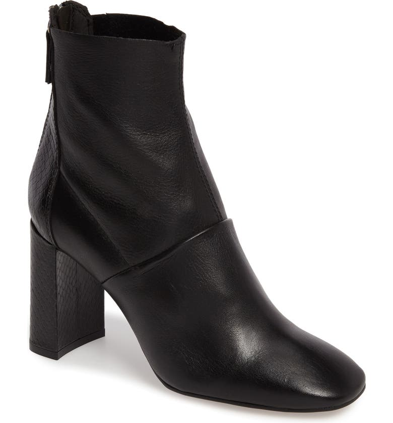TOPSHOP Hunk Snake-Textured Bootie, Main, color, 001