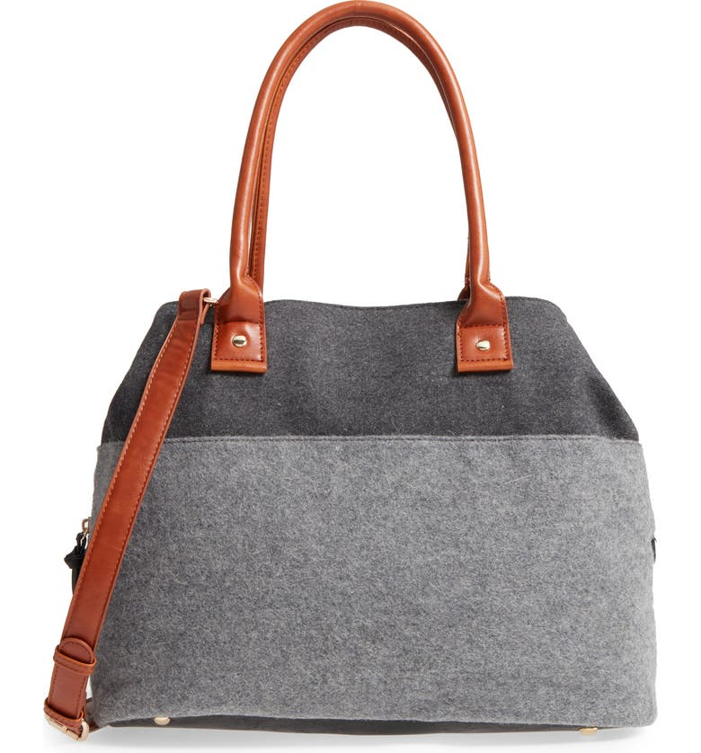 SOLE SOCIETY Chasity Duffel Bag, Main, color, FLANNEL COMBO