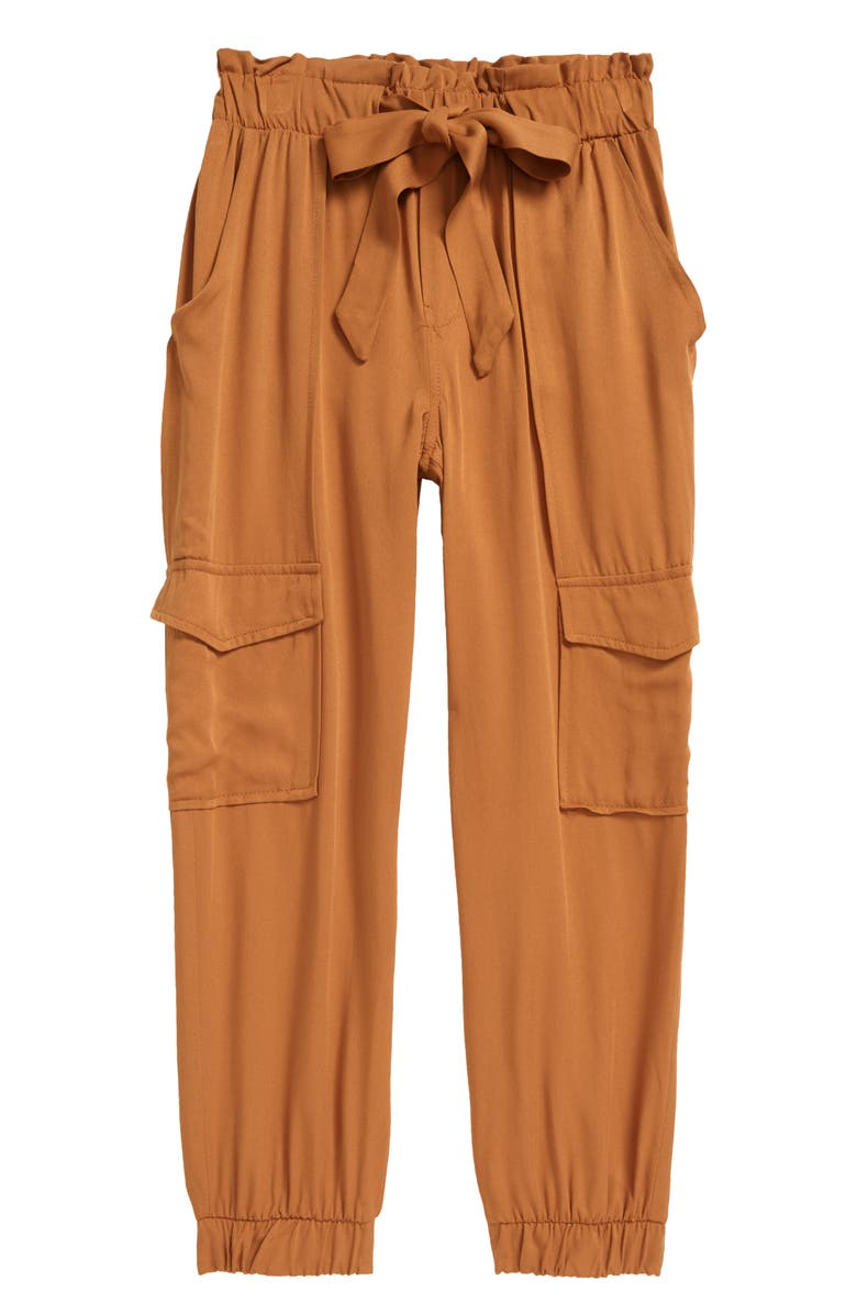 GOOD LUCK GIRL Kids' Cargo Paperbag Joggers, Main, color, COPPER