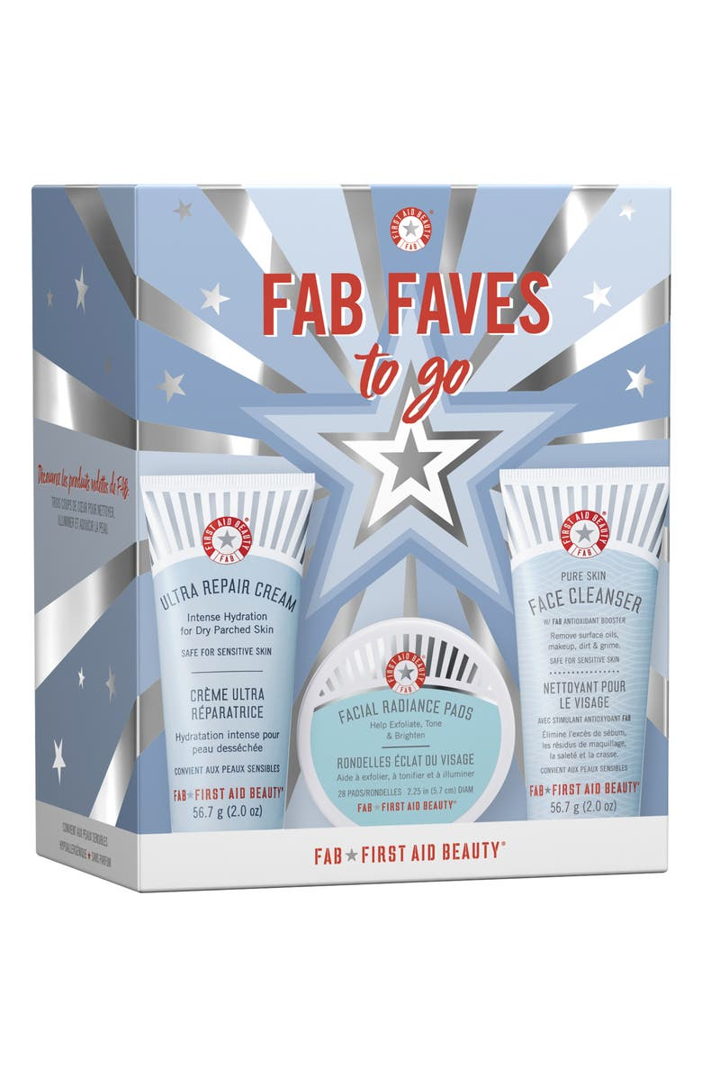 FIRST AID BEAUTY FAB Faves To-Go Set, Main, color, NO COLOR