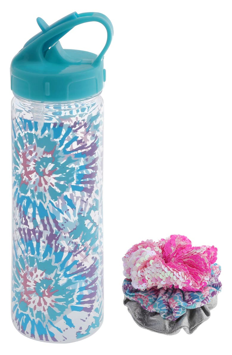 CAPELLI NEW YORK Water Bottle & Hair Scrunchies Set, Main, color, 650