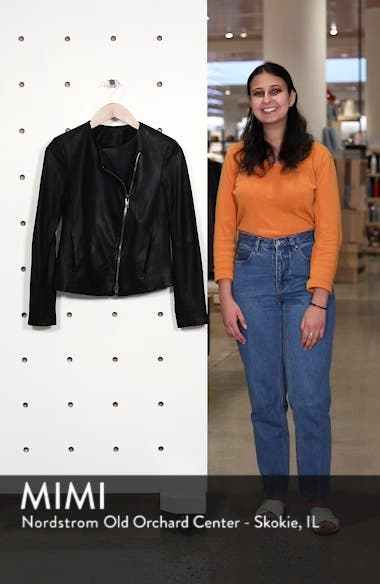 Zip Cross Front Leather Jacket, sales video thumbnail