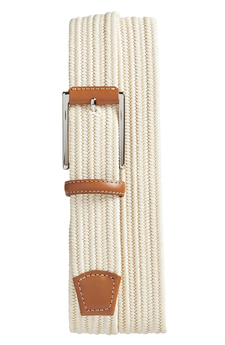 TORINO Woven Belt, Main, color, CREAM