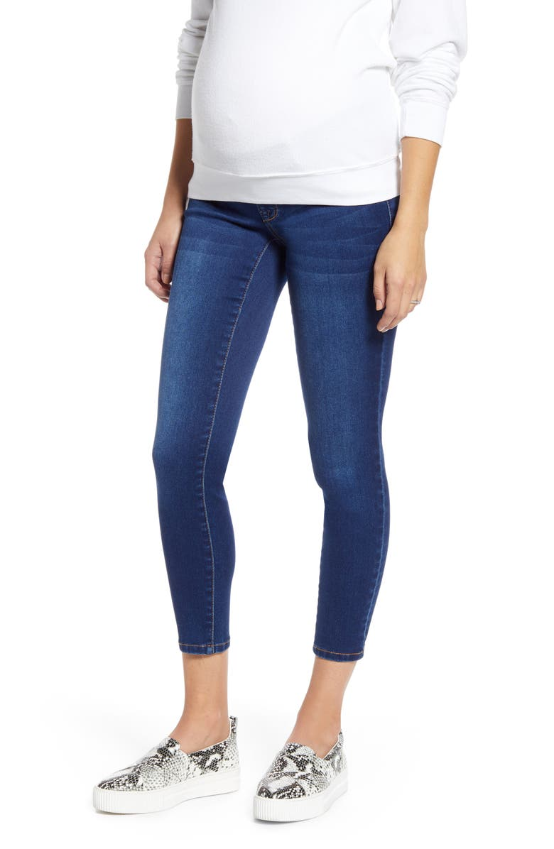 1822 DENIM Butter Crop Skinny Maternity Jeans, Main, color, LENNOX