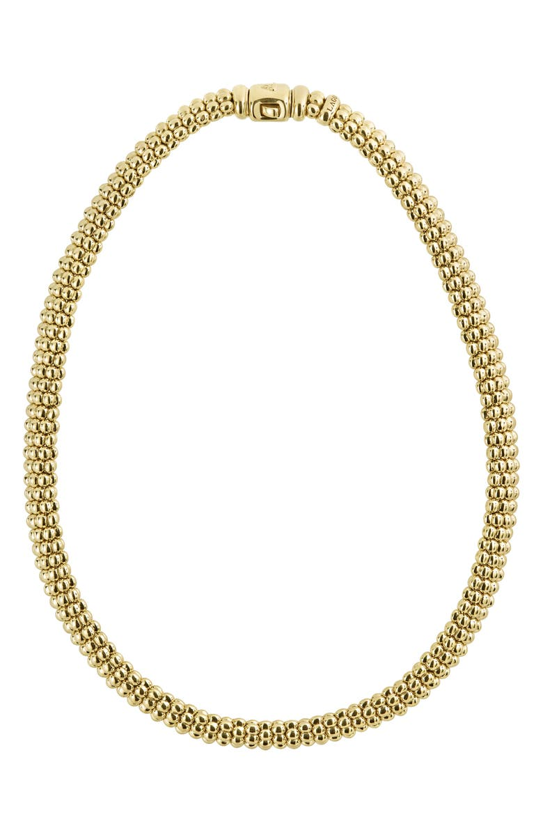 LAGOS Caviar Gold Rope Necklace, Main, color, 710