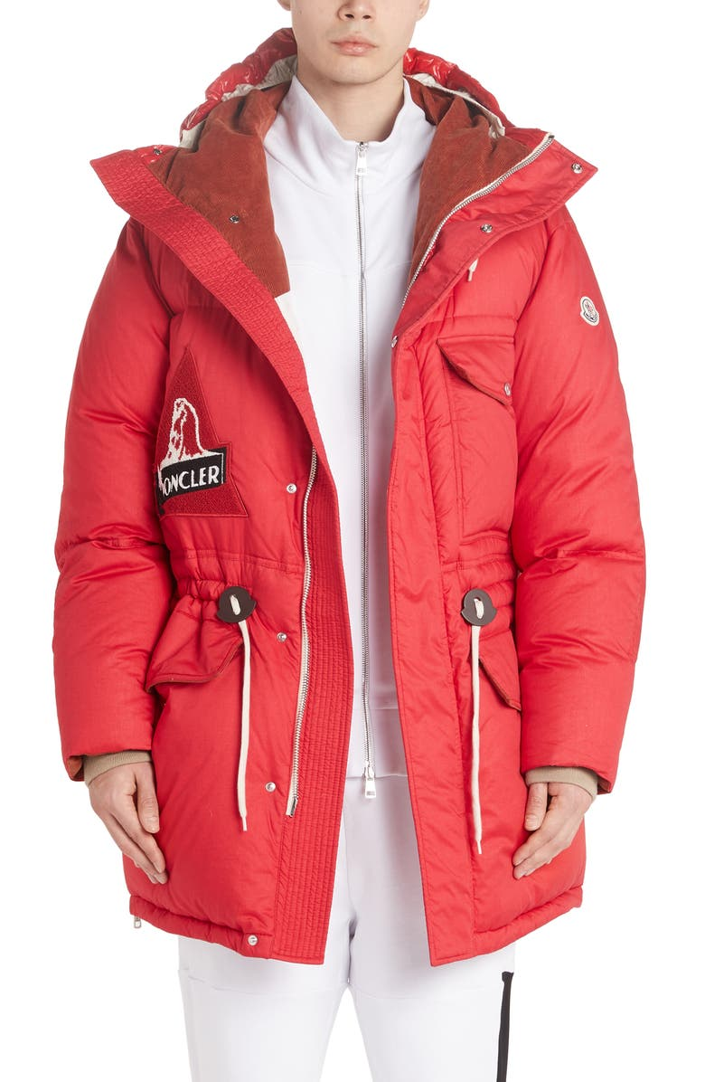 MONCLER Dedion Quilted Hooded Parka, Main, color, 610
