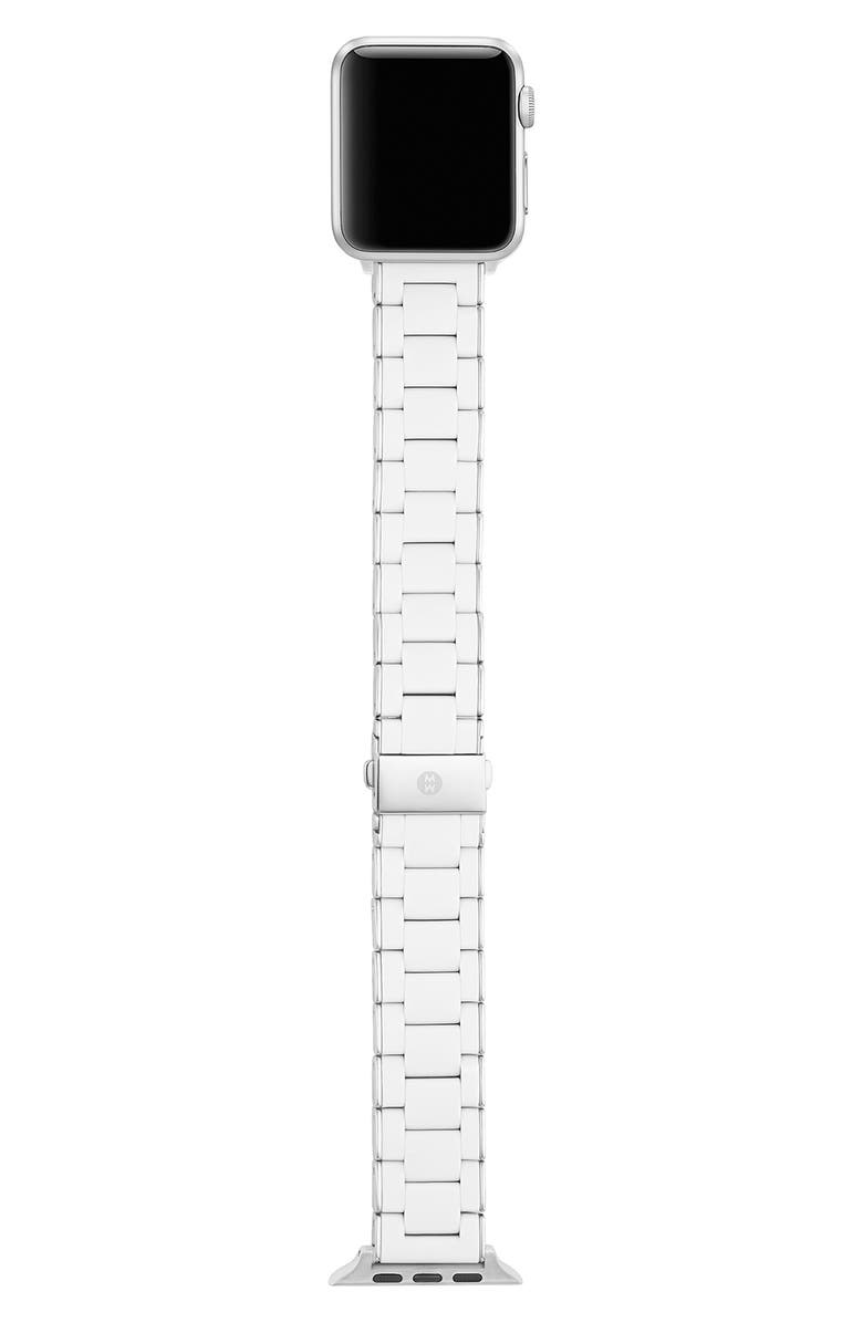 MICHELE Silicone Wrapped Apple Watch<sup>®</sup> Bracelet, Main, color, White