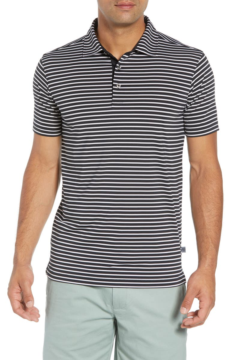 BOBBY JONES Control Stripe Jersey Polo, Main, color, 001