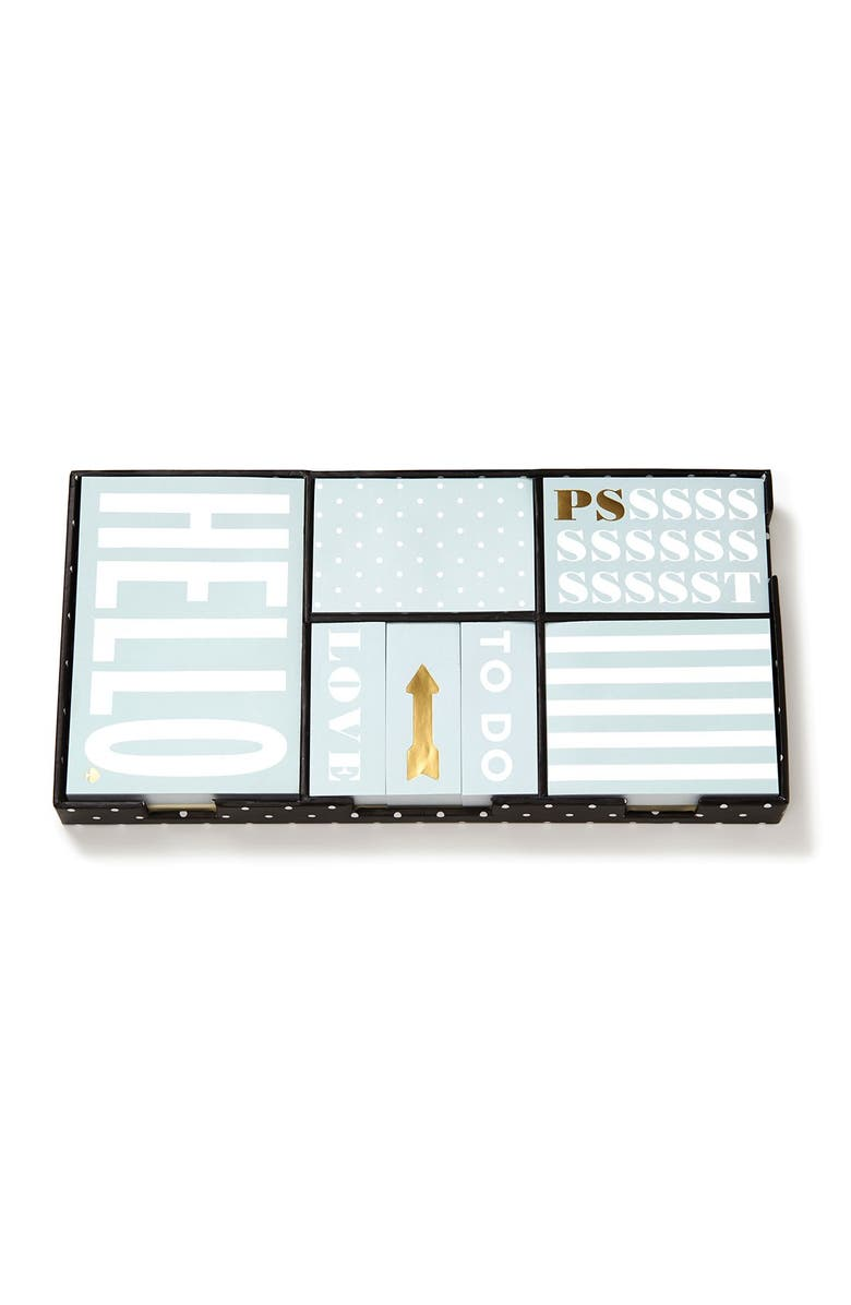 KATE SPADE NEW YORK deco dots sticky note set, Main, color, 400