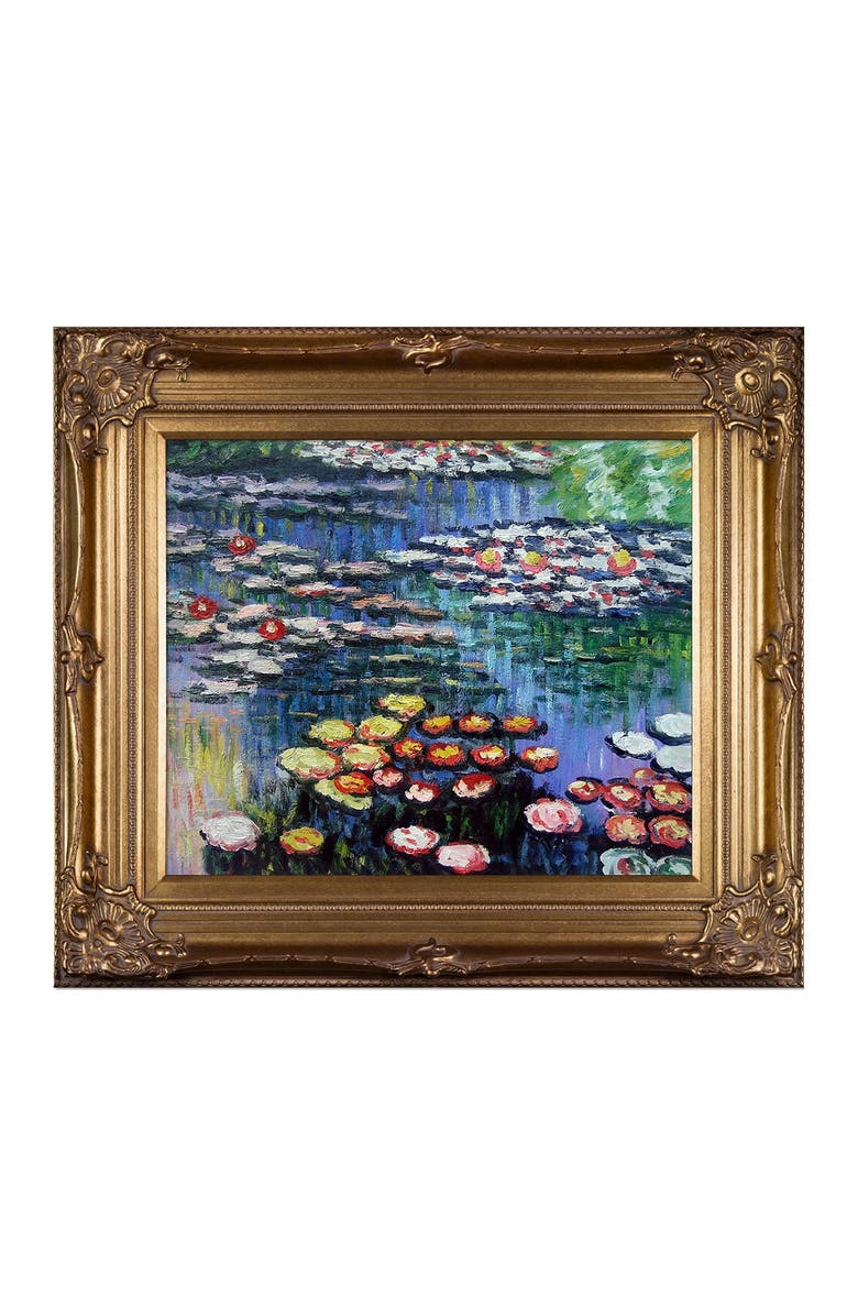 OVERSTOCK ART Water Lilies - Framed Oil Reproduction of an Original Painting by Claude Monet, Main, color, MULTI