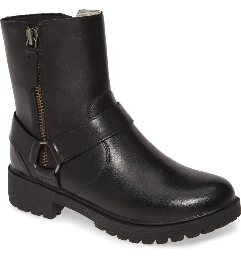 ALEGRIA BY PG LITE Alegria Water Resistant Boot, Main, color, CRAZYHORSE BLACK LEATHER