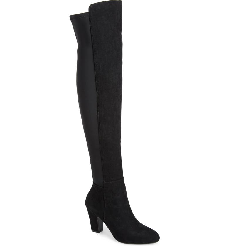 CHINESE LAUNDRY Canyons Over the Knee Boot, Main, color, BLACK SUEDE