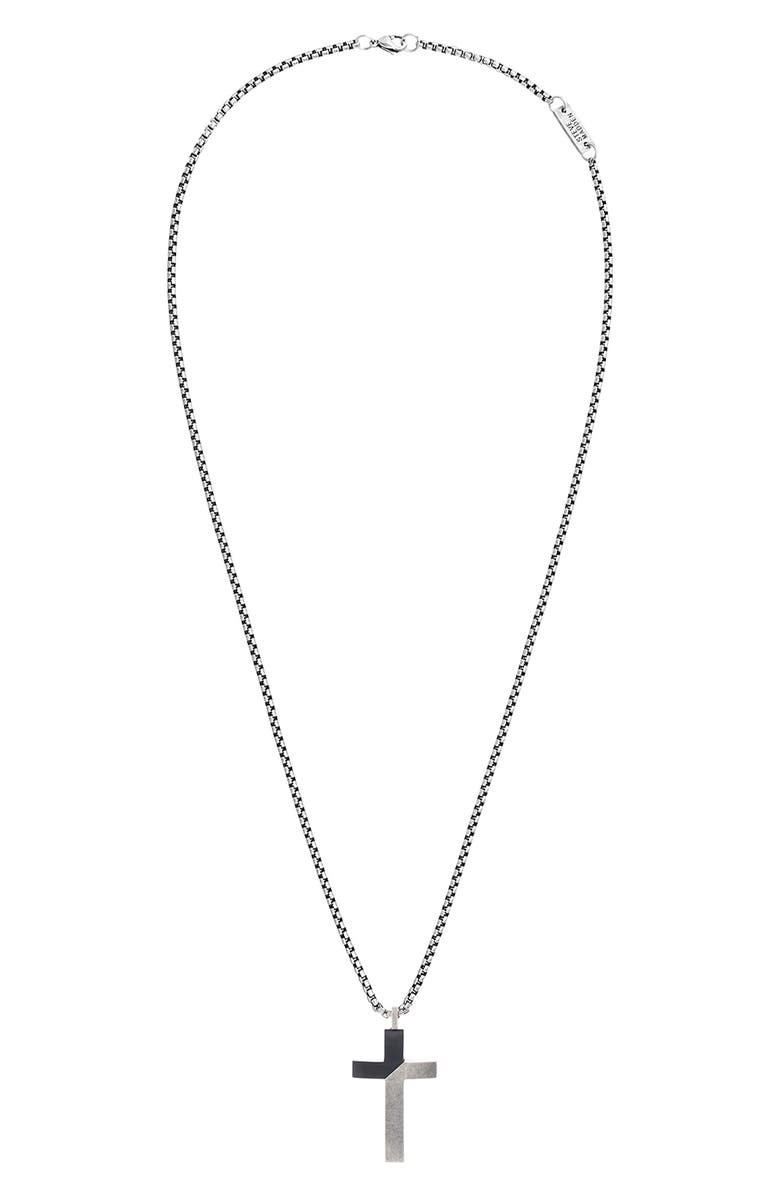 STEVE MADDEN Cross Pendant Necklace, Main, color, 040