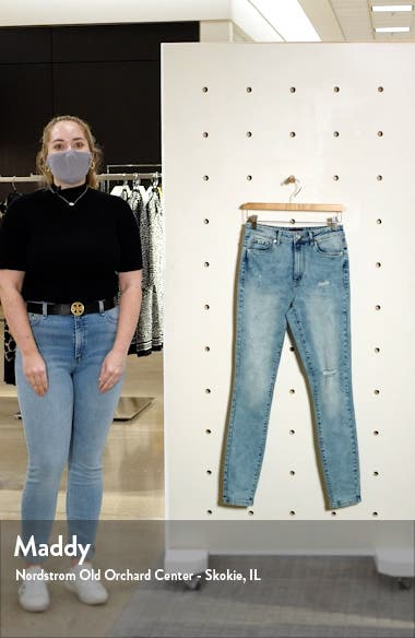 High Waist Ripped Skinny Jeans, sales video thumbnail