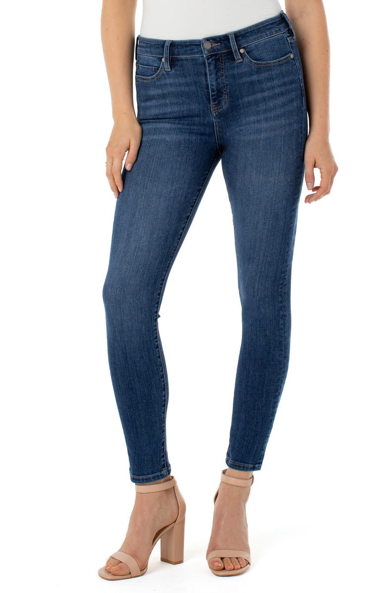 LIVERPOOL Abby Ankle Skinny Jeans, Main, color, BRONTE