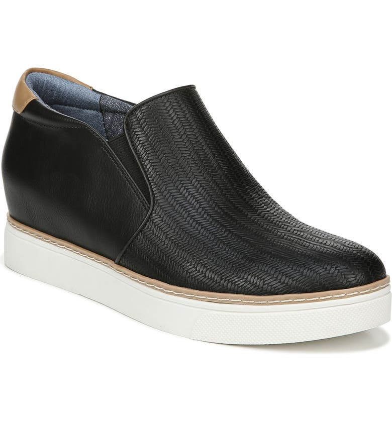 DR. SCHOLL'S If Only Wedge Bootie, Main, color, BLACK FAUX LEATHER