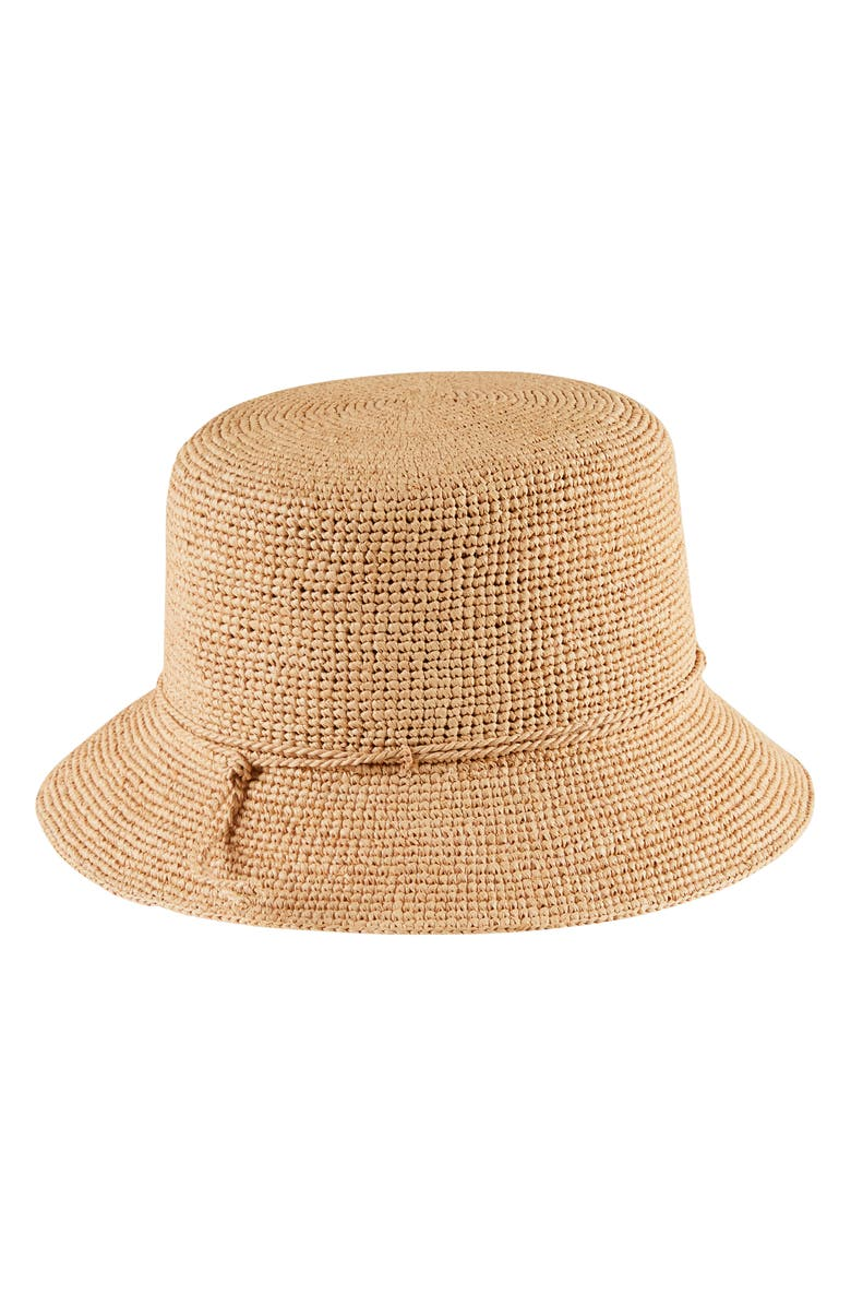 HELEN KAMINSKI Packable Raffia Bucket Hat, Main, color, 272
