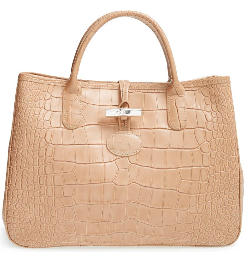 Longchamp 'Small Roseau' Croc-Embossed Leather Tote | Nordstrom
