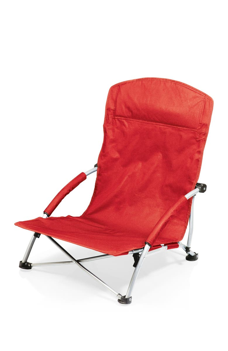 PICNIC TIME Red Tranquility Beach Chair, Main, color, RED