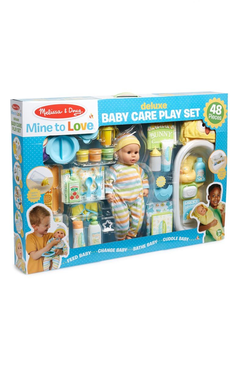 MELISSA & DOUG Mine to Love Deluxe Baby Care Playset, Main, color, 960