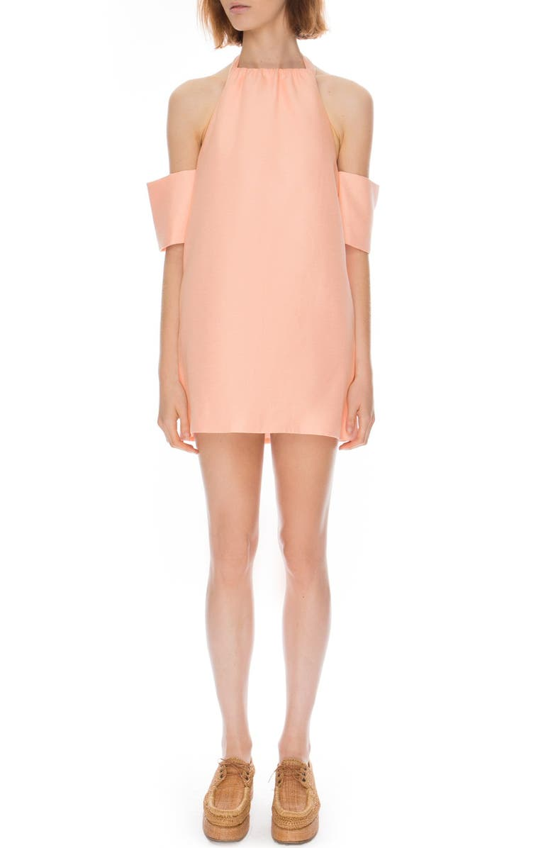 C/MEO COLLECTIVE 'Perfect Lie' Halter Minidress, Main, color, Pink