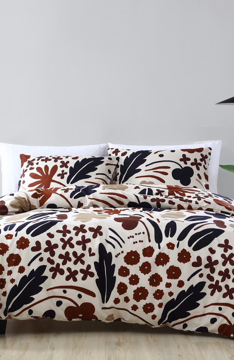 MARIMEKKO Suvi Comforter & Sham Set, Main, color, Brown