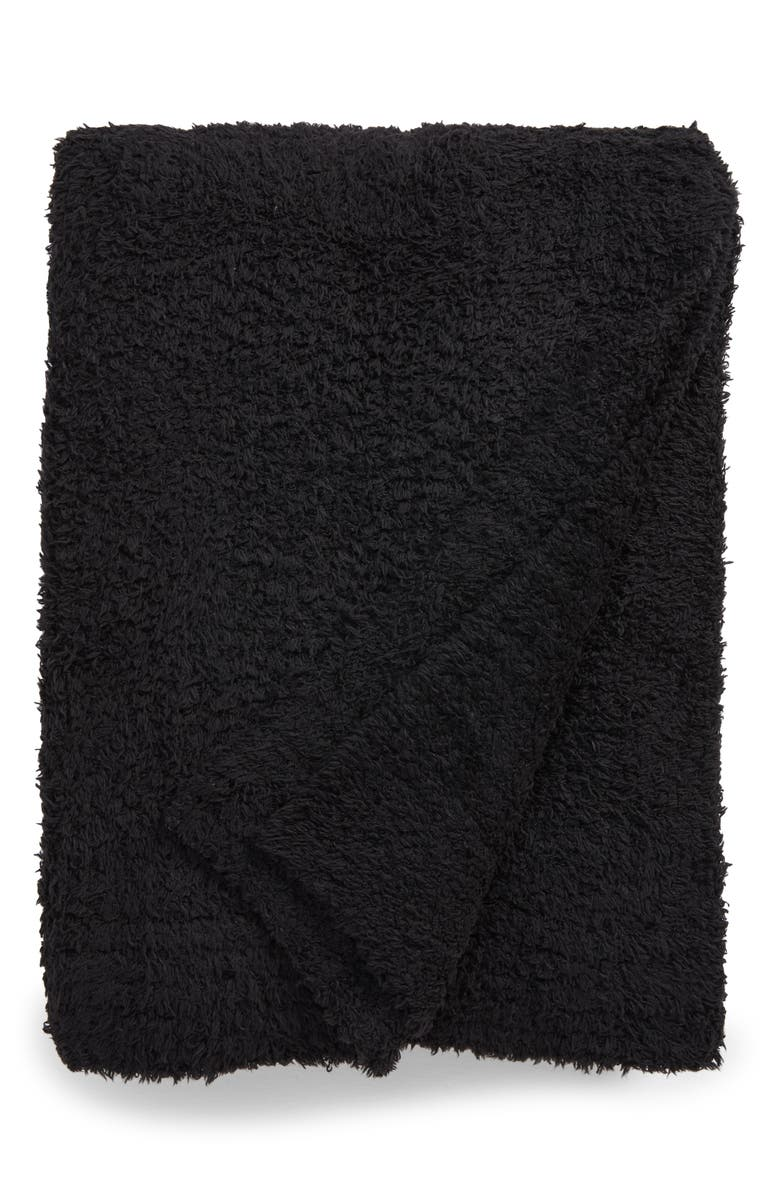 BAREFOOT DREAMS<SUP>®</SUP> CozyChic<sup>™</sup> Throw Blanket, Main, color, BLACK