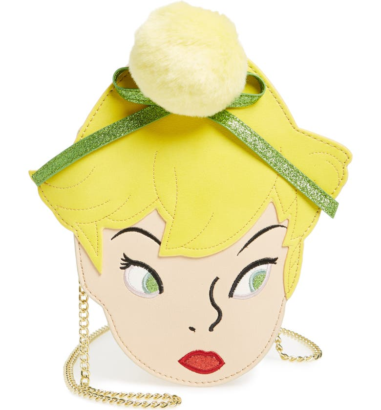 DANIELLE NICOLE x Disney<sup>®</sup> Tinker Bell Faux Leather Crossbody Bag, Main, color, 700