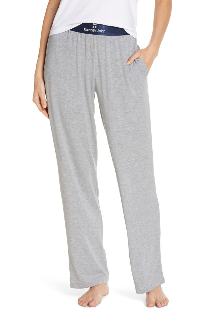 TOMMY JOHN Second Skin Lounge Pants, Main, color, COOL GREY HEATHER