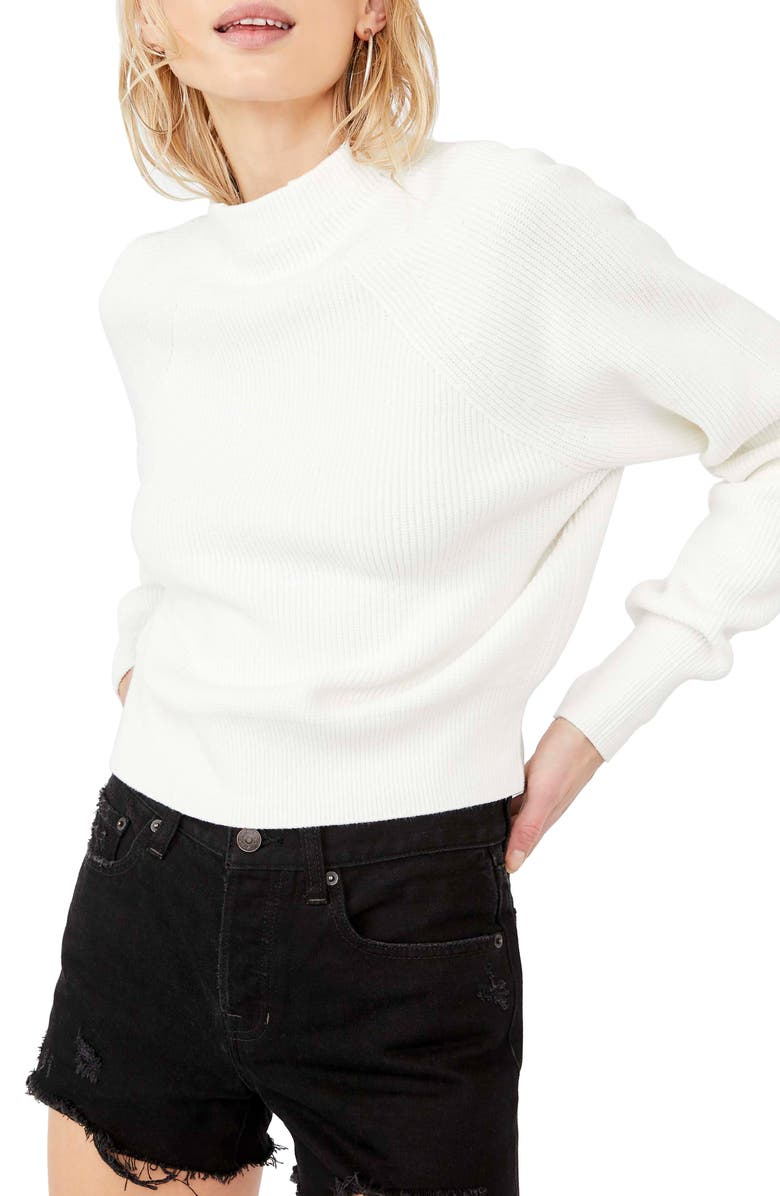 FREE PEOPLE Too Good Sweater, Main, color, WHITE