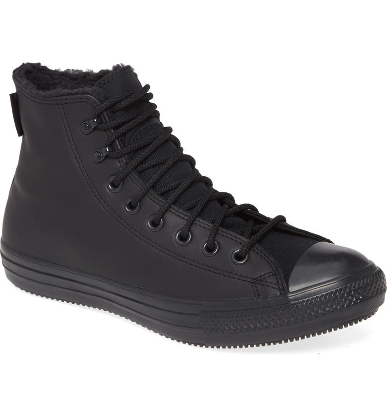 CONVERSE Chuck Taylor<sup>®</sup> All Star<sup>®</sup> Winter Gore-Tex<sup>®</sup> Sneaker, Main, color, BLACK/ BLACK/ BLACK