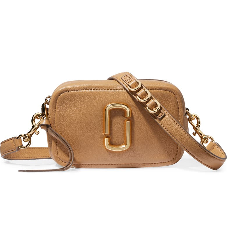 MARC JACOBS The Softshot 17 Leather Crossbody Bag, Main, color, 200