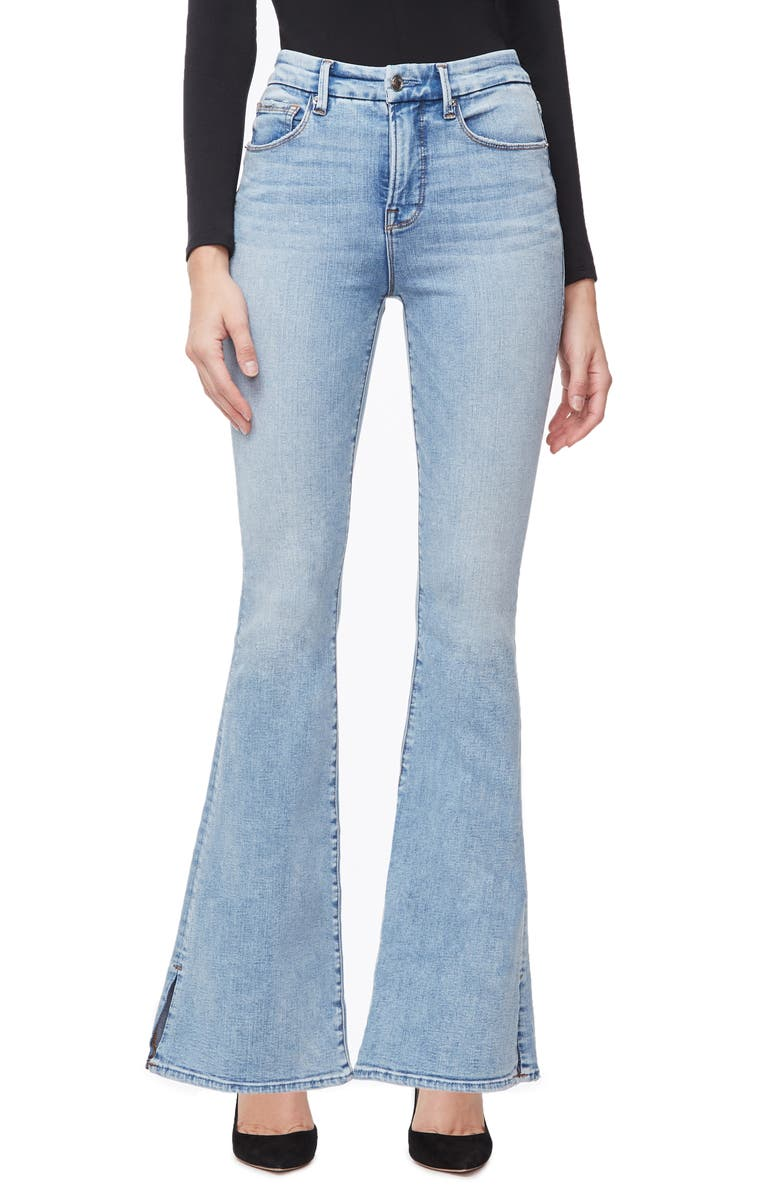 GOOD AMERICAN Good Flare Jeans, Main, color, 401