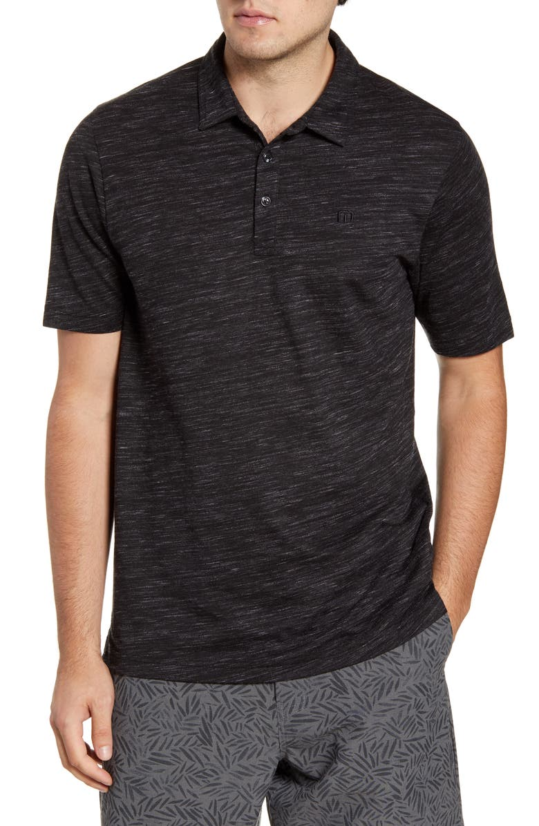 TRAVISMATHEW Flying Tortilla Regular Fit Performance Polo, Main, color, 001